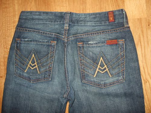 Seven 7 For All Mankind A Pocket Bootcut Jeans 25 30.5
